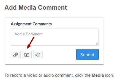 Screenshot showing media button